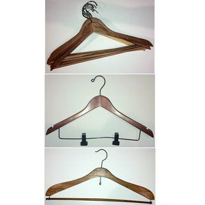 10 Vintage Wooden Hangers: Dark Wood